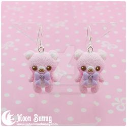 Pastel ice cream bears Earrings 2 by CuteMoonbunny