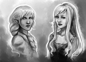 Shridra and Frederique by fee-absinthe