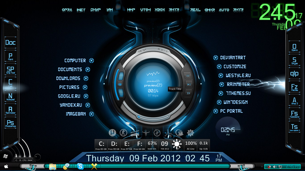 Armani077s deviantart favourites luckysnoopy 8 1 rainmeter hud digital with lightning spark by jestjoy11 publicscrutiny Gallery
