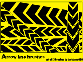 Arrow line brushes by darkdana666