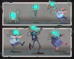 Computer Zombies by plaidklaus