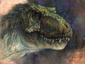 Study of JP2 Male T-rex Head by cheungchungtat