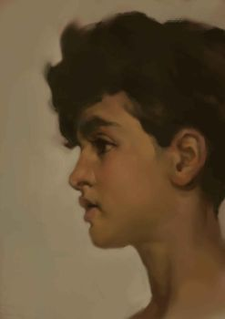 Study of Sir Frederick Leighton's Paolo by h-kaix