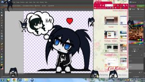 Shimeji-Black Rock Shooter (DL update) by Hana-Keijou
