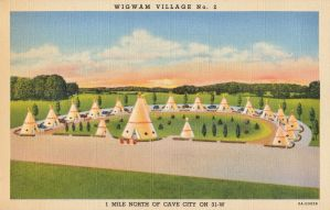 Vintage Motels - Wigwam Village, Cave City KY by Yesterdays-Paper