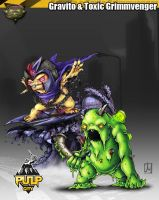 Gravito Grimm and Toxic grimmvenger by melvindevoor