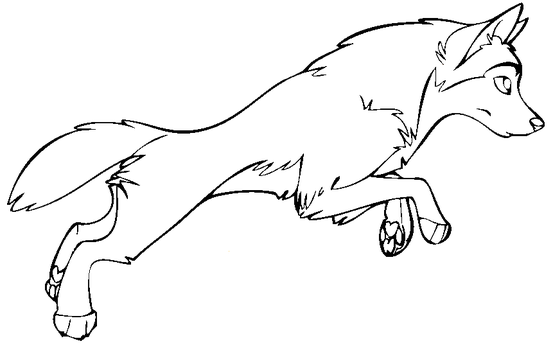 Wolf Lineart : Canines on universal lineart deviantart