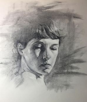 Charcoal Portrait Study, Practice 32 by AnaviTil