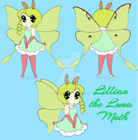 Lillian the Luna Moth by LittleArtisticDream