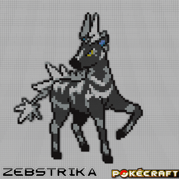 Pokecraft Zebstrika by PkmnMc