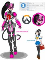 Overwatch OC - Panthora - Armor Update by ImaginationDiva