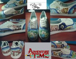 Adventure Time Shoes by GameGoddess33