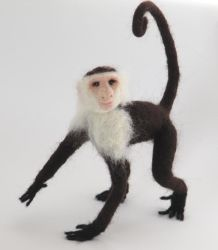 Needle-Felted Capuchin by GlassCamel