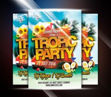 Tropic Party Flyer by afizs