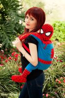 Mary Jane and The Mini Spidey by Ayashii