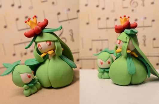 lilligant and petilil :) by SculptingPigeon
