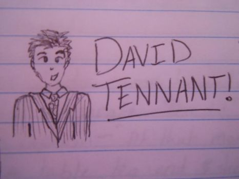 David Tennant doodle by RohirricTimeLord