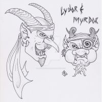 Lydor and Myrdor by AbstractPagan