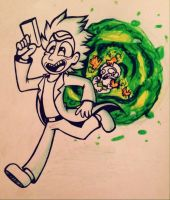 Inktober Day 10 / Rick and Morty~ by ChristinaDragon