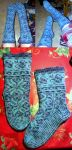 Blue winters ice fair-isle Lilli socks by KnitLizzy