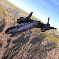 SR-71 Over a Canyon by VanishingPointInc