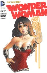 Wonder Woman New 52 Sketch Cover by sorah-suhng