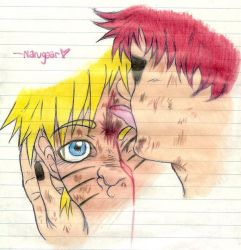 Licking your bloody forehead by Gaara-x-Naruto-Club
