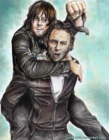 Daryl and Rick -Rickyl  TWD S6 by zelldinchit
