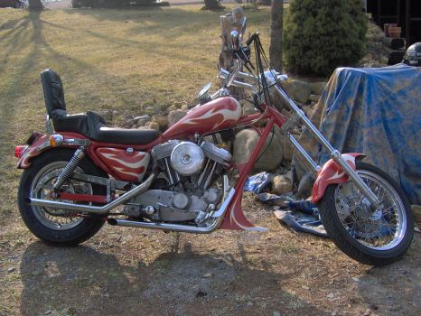 1993 Sporster chopper by Coffin-maker