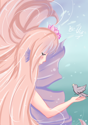 Mermaid and the bird by isi-chisi