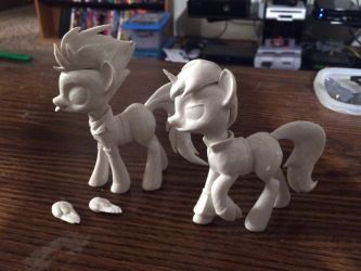 Spitfire and Little Pip WIP by Clawed-Nyasu