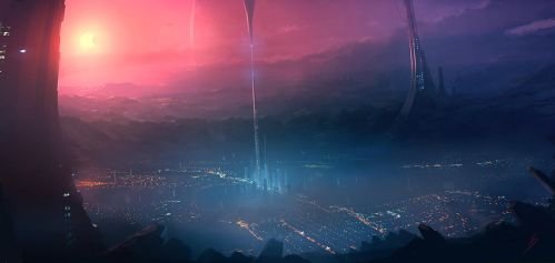 Speed Painting crater city 2 by ANTIFAN-REAL