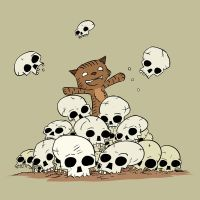 Skull Kitty by slackmatic