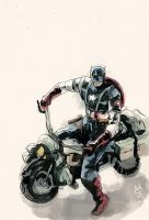 CAP and mortorcycle by agathexu