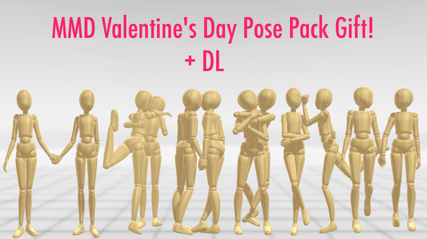 MMD Valentine's Day Pose Pack Gift! + DL by Lumanaera