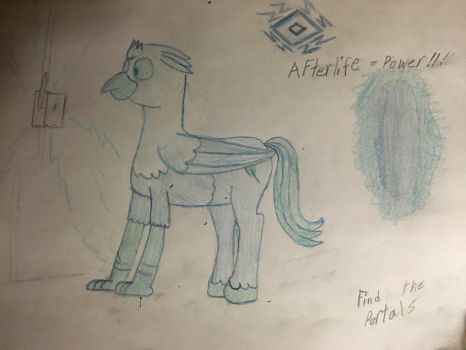 Silver Quill in the afterlife by MilwaukeeRoadBrony