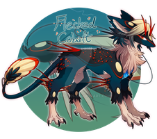 [CLOSED] Heart Lure Auction: Flecked Cobalt by dracooties