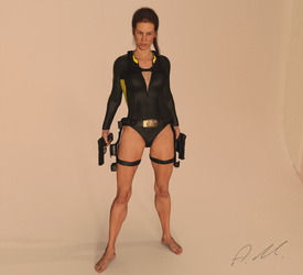 Tomb Raider Underworld wetsuit model by ArtiMuller