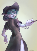 Elf-Witch DnD Commission by Zeighous
