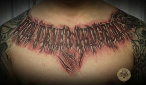 Don t ever judge me done by 2Face-Tattoo