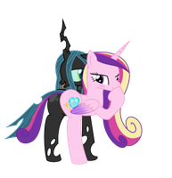Cadence x Chrysalis Conjoined by MLPConjoinment