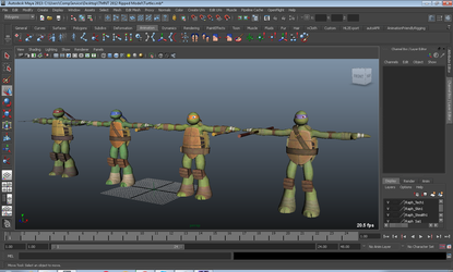 Nickelodeon's TMNT 2012 3D Models (Rigged) by TheBlueBlur1993