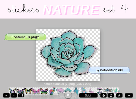 + NATURE |STICKERS SET 4| by natieditions00