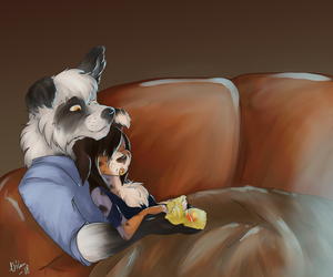 Netflix and actual chill by LordoftheTroglodytes