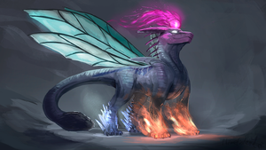 Dragon of elements (commission) by ThemeFinland