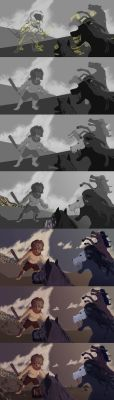 Process: Heracles and the Mares of Diomedes by kaithebox