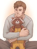Star-Lord and Rocket by J-666