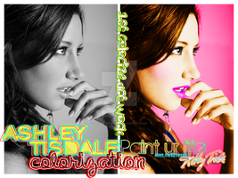 Ashley Tisdale Colorization by MissSweeteyes
