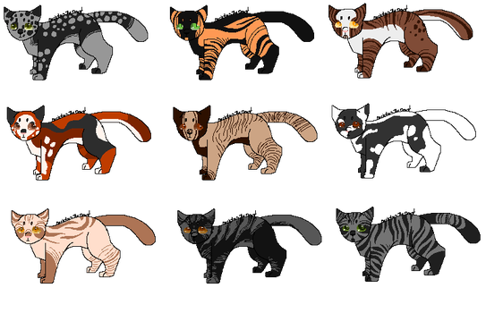 Open (8/9) feline adopts by OverLord-Adopts