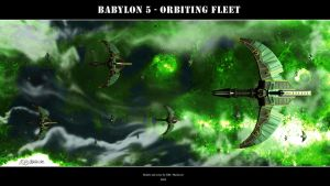 Babylon 5 - Orbiting Fleet by Mallacore